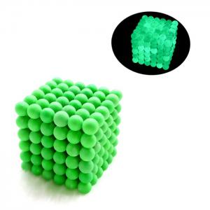 216 Pcs 5mm Education Toys Magnet Toys Multi Molding Luminous Buckyballs - Neon Green