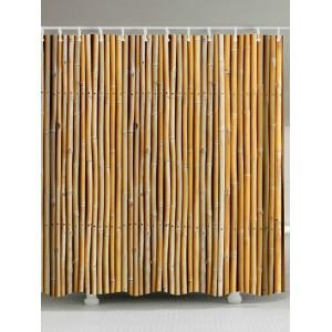 Extra Long Bamboo Print Shower Curtain - Earthy - W71 Inch * L79 Inch