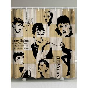 Vintage Audrey Hepburn Fabric Shower Curtain