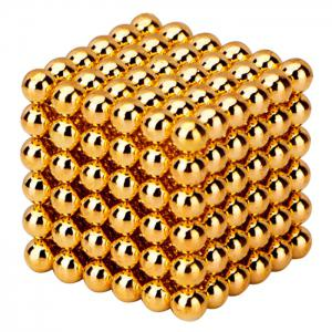 216 Pcs 3mm Education Toys Magnet Toys Multi Molding Buckyballs - Golden - Xl