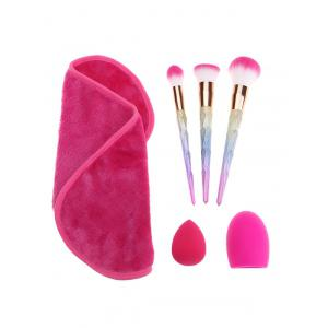 Brush Egg Towel Makeup Brushes Set With Sponge Puff