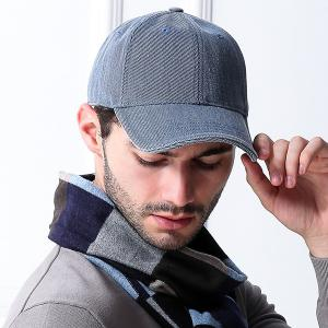 Cotton Blending Sunproof Pinstriped Baseball Cap - Blue Jeans