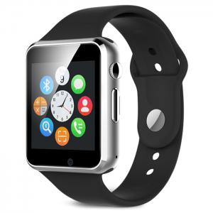 A1 Bluetooth Smart Watch Phone with Sleep Monitor Pedometer Camera Single SIM - Black