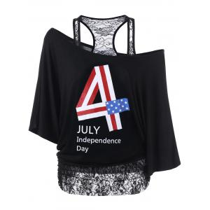 Lace Trim Funny 4th of July T-Shirts