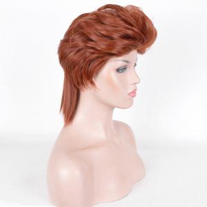 Short Straight Slicked Back Synthetic Cosplay Anime Wig -