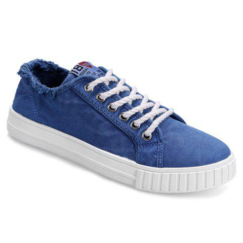 Muffin Flat Lace Up Canvas Sneakers