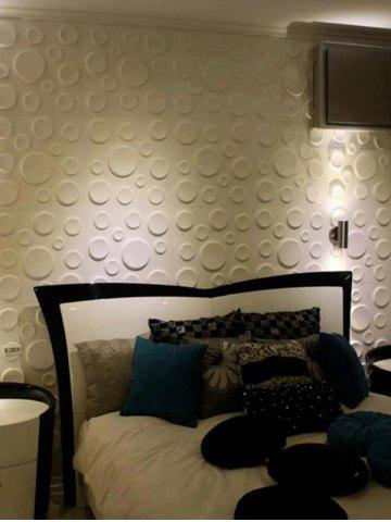 Cheap Removable 3D Embossed Wall Art Sticker - 30*30CM WHITE Mobile