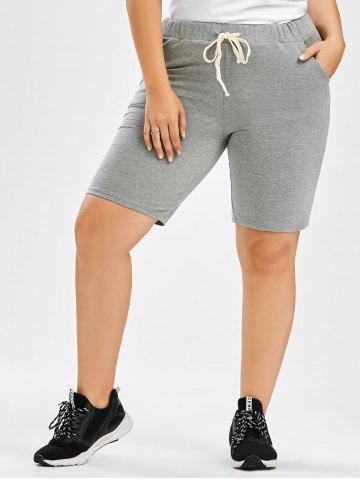Unique Drawstring Plus Size Jogger Shorts