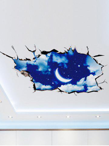Outfit 3D Night Sky Removable Wall Art Sticker - 60*90CM DEEP BLUE Mobile