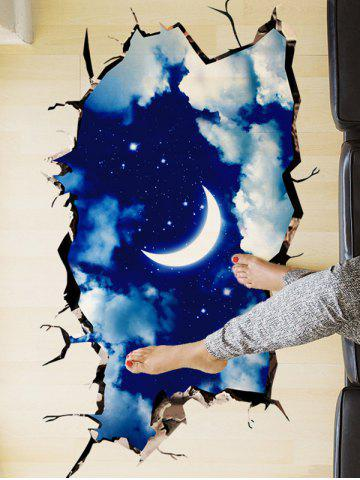 Outfits 3D Night Sky Removable Wall Art Sticker - 60*90CM DEEP BLUE Mobile