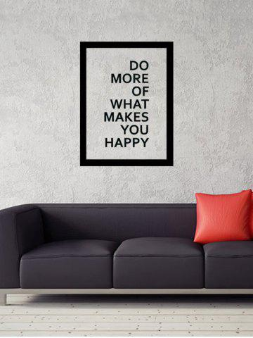Store Do More Quote Wall Decal - 57*43CM BLACK Mobile