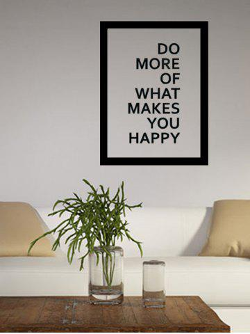 Shop Do More Quote Wall Decal - 57*43CM BLACK Mobile