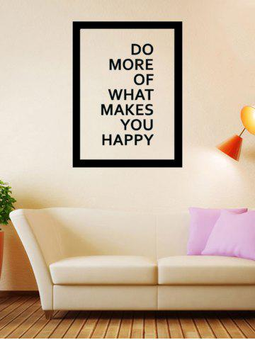 New Do More Quote Wall Decal - 57*43CM BLACK Mobile