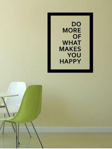 Outfit Do More Quote Wall Decal - 57*43CM BLACK Mobile