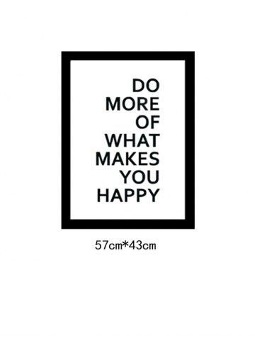 Latest Do More Quote Wall Decal - 57*43CM BLACK Mobile