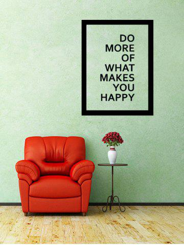 Online Do More Quote Wall Decal - 57*43CM BLACK Mobile