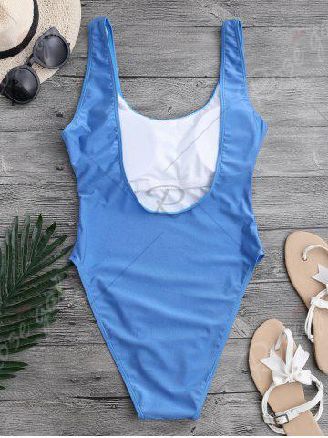Store Backless High Cut One Piece Swimwear - L BLUE Mobile