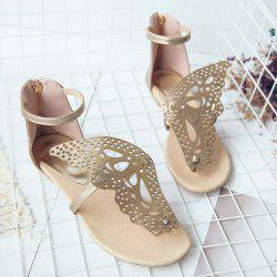 Zipper Butterfly Embellishment Sandals