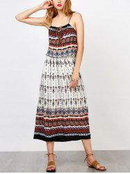 Criss Cross Bohemian Slip Print Summer Dress