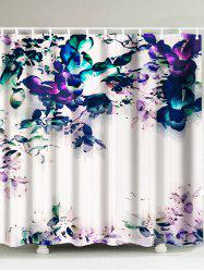 Painting Flower Waterproof Shower Curtain