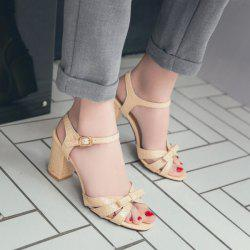 Chunky Heel Bowknot Sandals