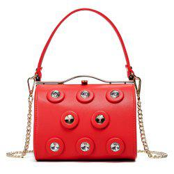 Rhinestone Metal Bar Handbag