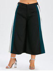 Plus Size Color Block Palazzo Pants