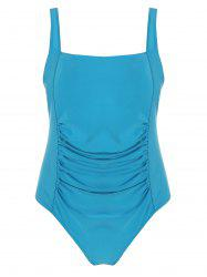 One Piece Plus Size Ruched Swimwear
