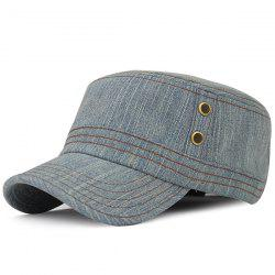 Outdoor Sunscreen Denim Flat Top Hat - BLUE GRAY