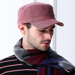 Pinstripe Cotton Blending Flat Top Hat