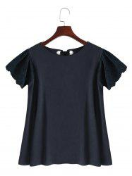 Hollow Out Puff Sleeve Top