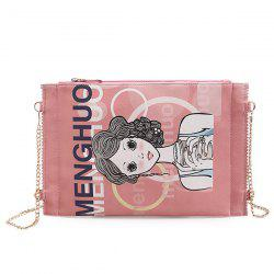 Funny Cartoon Print Crossbody Bag