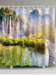 Eco-Friendly Nature Landscape Shower Curtain
