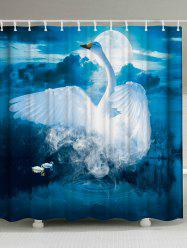 Bathroom Decor Mew Swan Shower Curtain