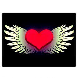 Heart with Wings Water Absorbing Bathroom Floor Mat