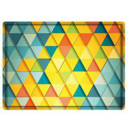 Colorful Rhombus Print Water Absorbing Bathroom Floor Mat
