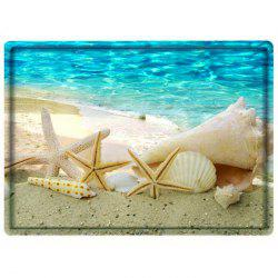Beach Conch Starfish Water Absorbing Bathroom Floor Mat
