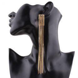 Extra Long Alloy Fringed Chain Drop Earring