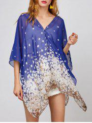 Convertible Printed Chiffon Top