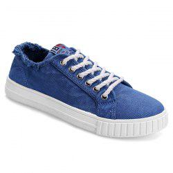 Muffin Flat Lace Up Canvas Sneakers -