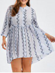 Plus Size Ruffle Smock Dress With Sleeves