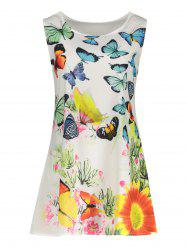 Butterfly Print Trapeze Mini Dress