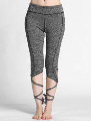High Waisted Lace Up Gym Leggings