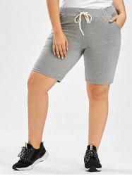 Drawstring Plus Size Jogger Shorts -