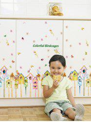 Colorful Birdcages Wall Stickers For Kids Room