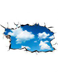 3D Cloudy Sky Home Decor Wall Art Sticker - BLUE