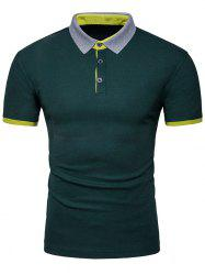 Half Button Insert Polo Shirt