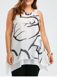 Layered Sleeveless Plus Size Chiffon Top