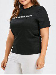 Plus Size Crew Neck Graphic Tee