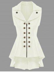 Double Breast High Low Lapel Dressy Waistcoat